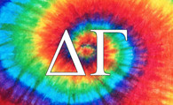 Delta Gamma Sorority Flag- Tie Dye