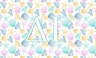Delta Gamma Sorority Flag- Seashells
