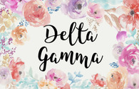 Delta Gamma Sorority Flag- Floral