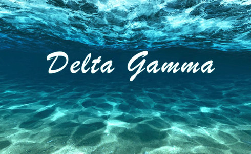 Delta Gamma Sorority Flag- Ocean