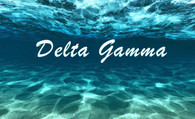 Delta Gamma Sorority Flag- Ocean