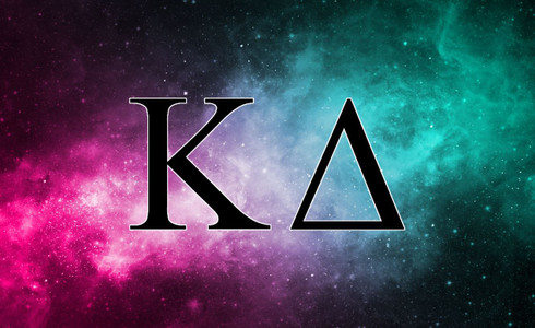 Kappa Delta Sorority Flag-Galaxy