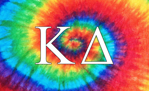 Kappa Delta Sorority Flag-Tie Dye