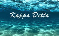 Kappa Delta Sorority Flag- Ocean