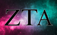 Zeta Tau Alpha ZTA Sorority Flag- Galaxy Flag