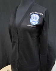 Zeta Phi Beta Sorority Button Up Cardigan- Black