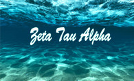 Zeta Tau Alpha ZTA Sorority Flag- Ocean