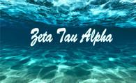 Zeta Tau Alpha ZTA Sorority Flag- Ocean