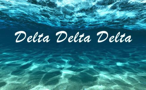 Delta Delta Delta Tri-Delta Sorority Flag- Ocean
