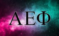 Alpha Epsilon Phi AEPHI Sorority Flag- Galaxy