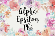 Alpha Epsilon Phi AEPHI Sorority Flag- Floral