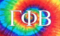 Gamma Phi Beta Sorority Flag- Tie Dye