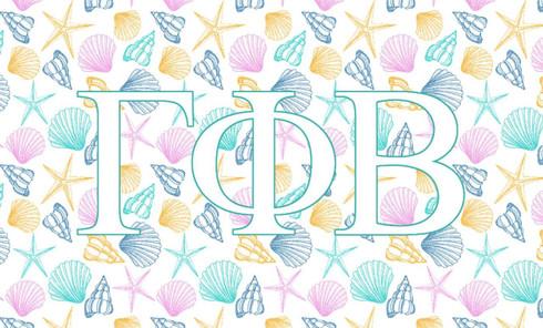 Gamma Phi Beta Sorority Flag- Seashell