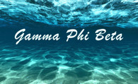 Gamma Phi Beta Sorority Flag- Ocean