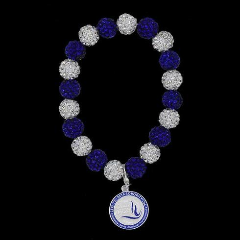 Zeta Phi Beta Sorority Bracelet - Blue/Silver
