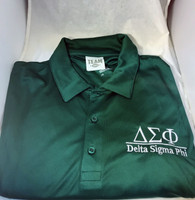 Delta Sigma Phi Fraternity Dri-Fit Polo- Green