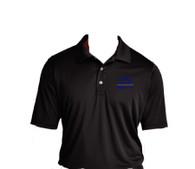 Sigma Chi Fraternity Dri-Fit Polo- Black-Style 2