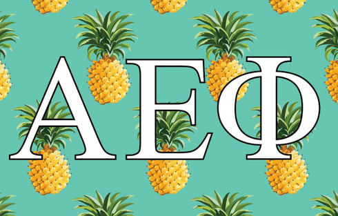 Alpha Epsilon Phi AEPHI Sorority Flag- Pineapple