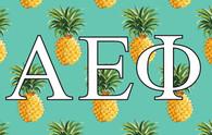 Alpha Epsilon Phi AEPHI Sorority Flag- Pineapple
