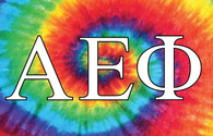 Alpha Epsilon Phi AEPHI Sorority Flag- Tie Dye