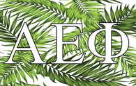 Alpha Epsilon Phi AEPHI Sorority Flag- Palm Leaves