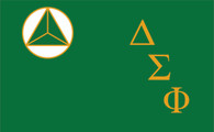 Delta Sigma Phi Fraternity Flag- Style 2