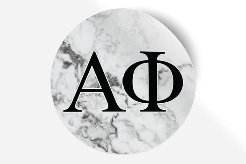 Alpha Phi Sorority Bumper Sticker- Marble