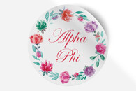 Alpha Phi Sorority Bumper Sticker-Floral