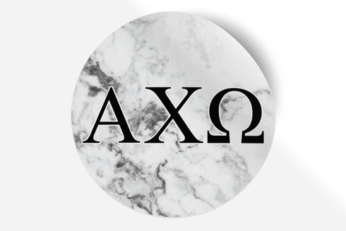 Alpha Chi Omega Sorority Bumper Sticker-Marble