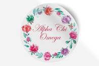 Alpha Chi Omega Sorority Bumper Sticker-Floral