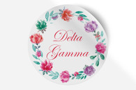 Delta Gamma Sorority Bumper Sticker-Floral