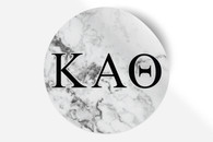 Kappa Alpha Theta Sorority Bumper Sticker-Marble
