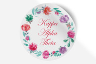 Kappa Alpha Theta Sorority Bumper Sticker-Floral