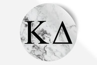 Kappa Delta Sorority Bumper Sticker-Marble