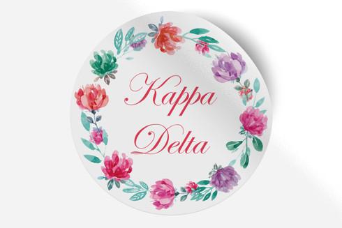 Kappa Delta Sorority Bumper Sticker-Floral