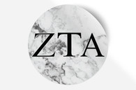 Zeta Tau Alpha ZTA Sorority Bumper Sticker-Marble