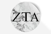 Zeta Tau Alpha ZTA Sorority Bumper Sticker-Marble