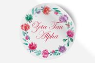 Zeta Tau Alpha ZTA Sorority Bumper Sticker-Floral