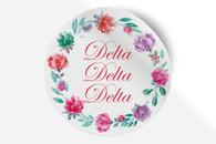 Delta Delta Delta Tri-Delta Sorority Bumper Sticker-Floral