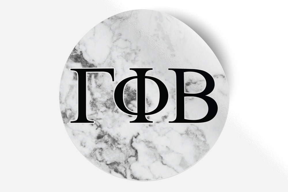 cc372e83 Gamma Phi Beta Sorority Bumper Sticker-Marble - Brothers and Sisters ...