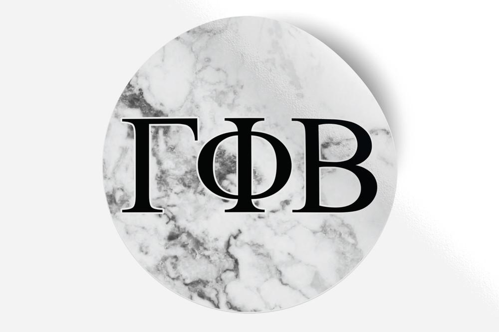 Gamma Phi Beta Sorority Bumper Sticker Marble