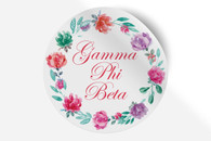 Gamma Phi Beta Sorority Bumper Sticker-Floral