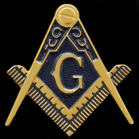 Mason Symbol Auto Emblem- Gold
