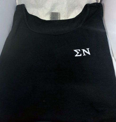 Sigma Nu Fraternity Tank Top- Black