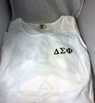 Delta Sigma Phi Fraternity Tank Top- White