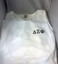 Delta Sigma Phi Fraternity Tank Top- White