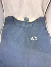Delta Upsilon Fraternity Tank Top-Blue Jean