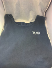 Chi Phi Fraternity Tank Top- Denim