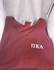Pi Kappa Alpha PIKE Fraternity Tank Top- Crimson