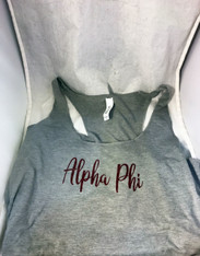 Alpha Phi Sorority Tank Top- Gray